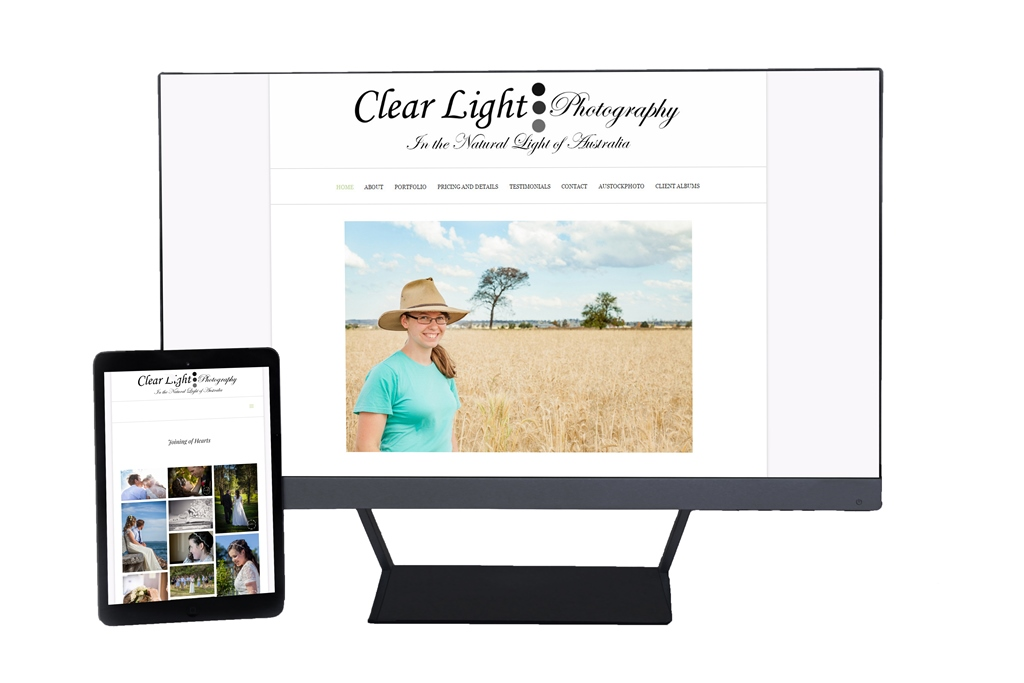 Clear Light Alice May Web Design